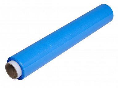 Стрейч пленка голубая 500мм, 23мкм, вес 1,2кг